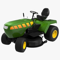 3d model of lawn tractor rigged modeled