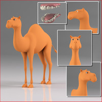cartoon camel obj