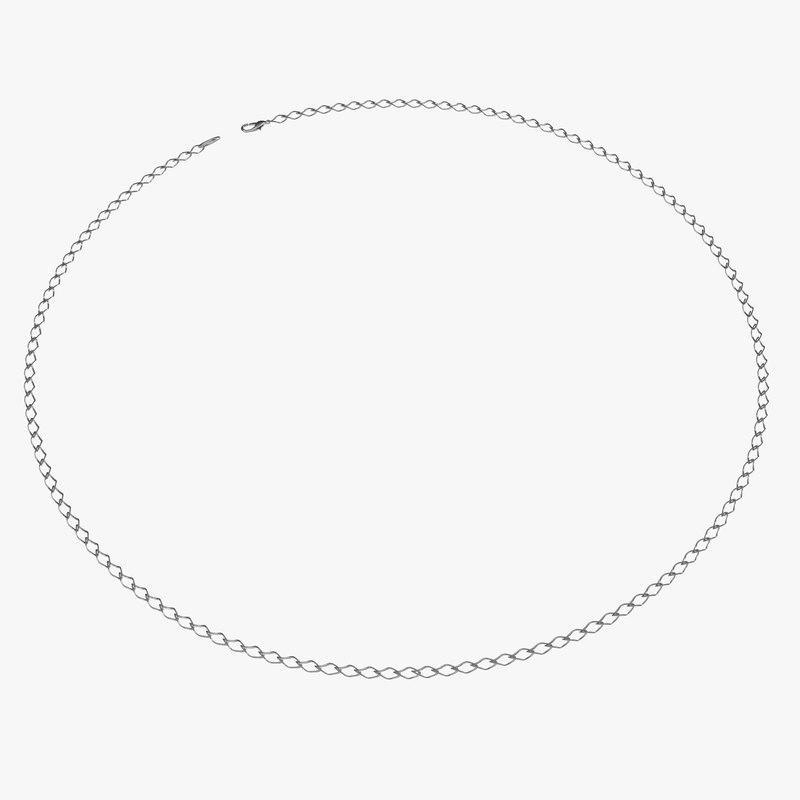 c4d white gold chain