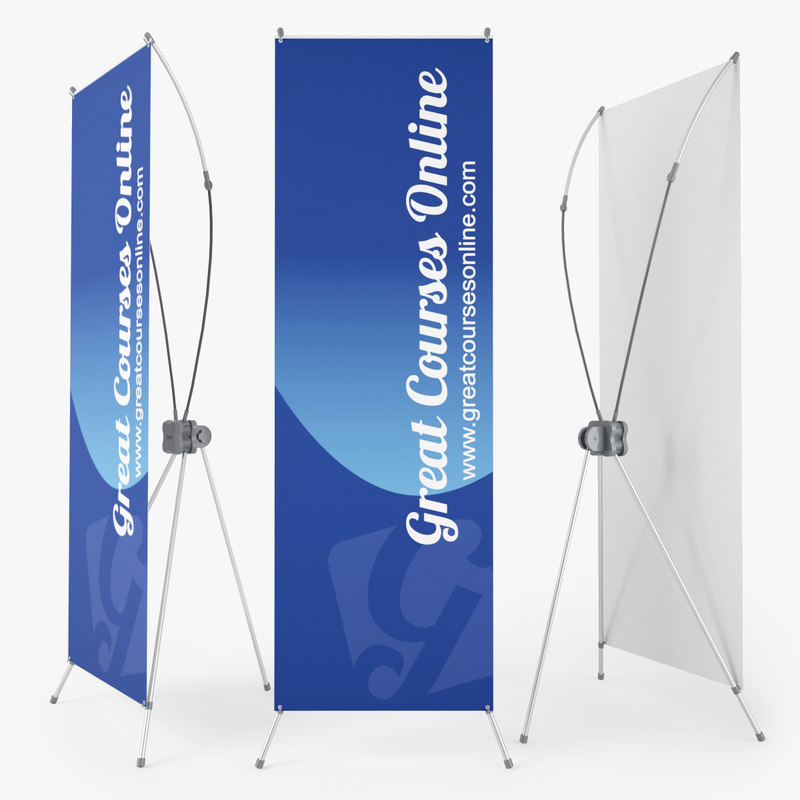 3d x banner stand standy
