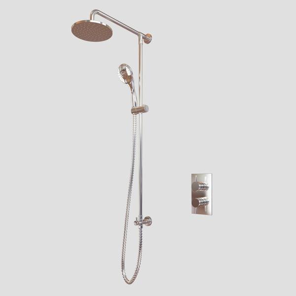 modern shower 3d model