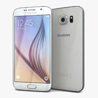 samsung galaxy s6 white 3d 3ds