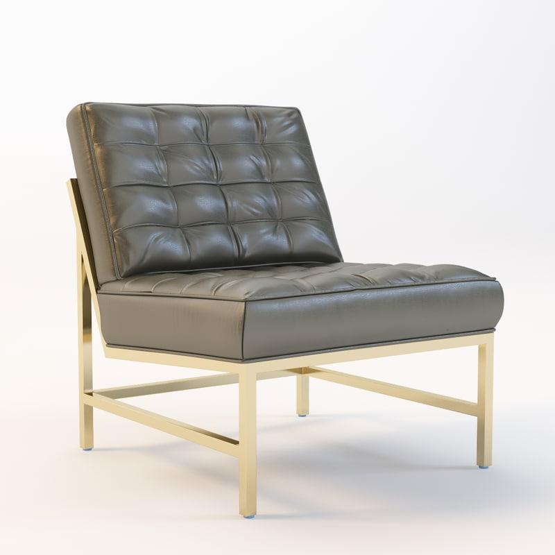 3d model major chair century