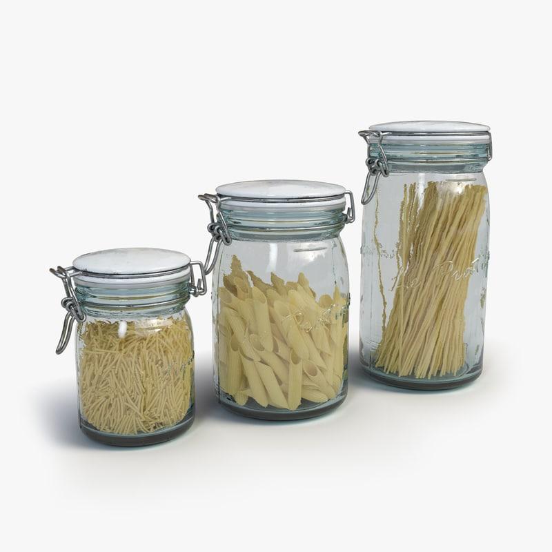 3d model vintage jars
