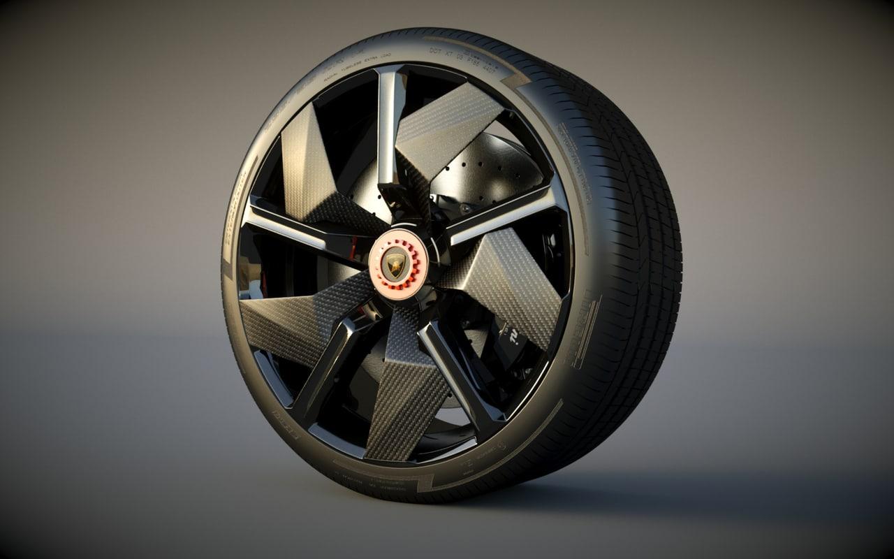 3d model lamborghini wheel
