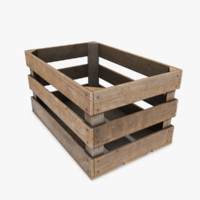 3d model wooden crate