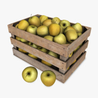 crate apples 3d max