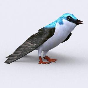 3d 3ds swallow birds