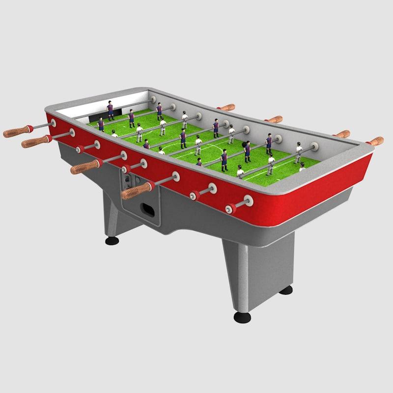 3d table bar model
