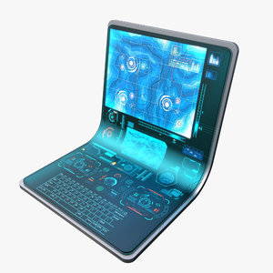 3ds max laptop hologram