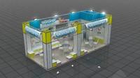 fair stand verdino 3d model
