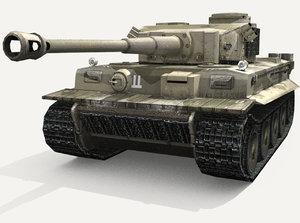 3d panzer vi tiger heavy tank model