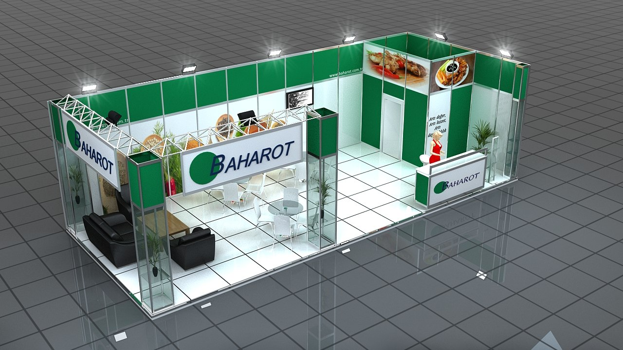 3d model of fair stand baharot