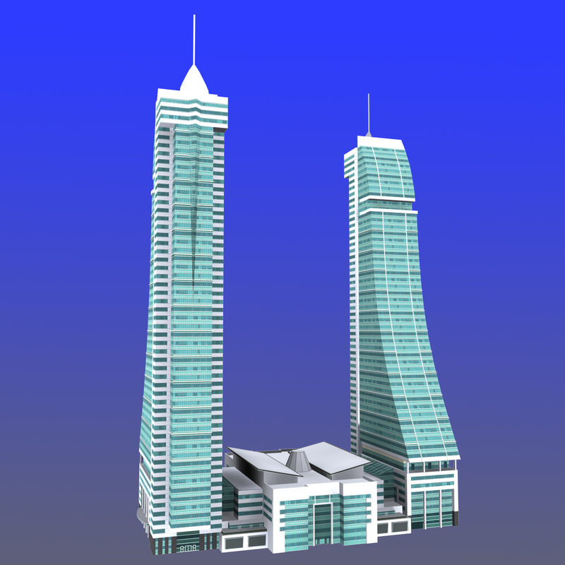 bahrain financial harbour 3d max