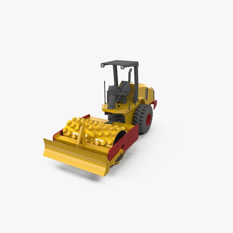 3dsmax roller vibratory