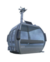 ropeway cabine 3d model
