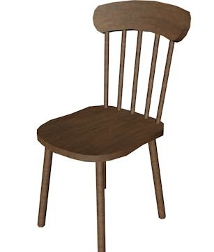 3d model chair dae wrl