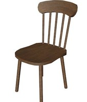 3d model chair dae wrl
