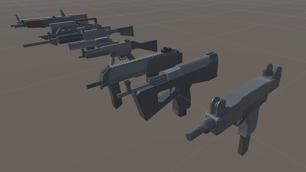 sps mobile weapons pack 3d model