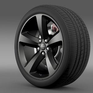 3d model chrysler 300s wheel