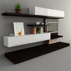 3d tv wall model