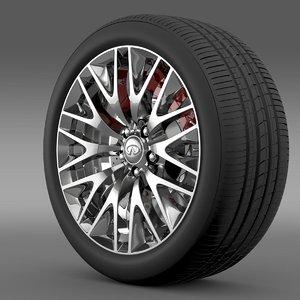 infinity ml wheel 3d model