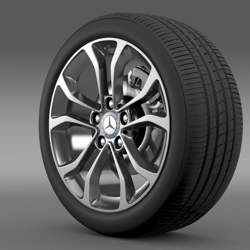 3d mercedes benz c model