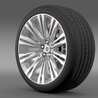 lancia thema 2014 wheel c4d