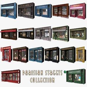 18 typical parisian shop 3d model