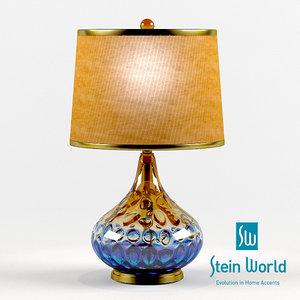 stein shelley table lamp 3d obj