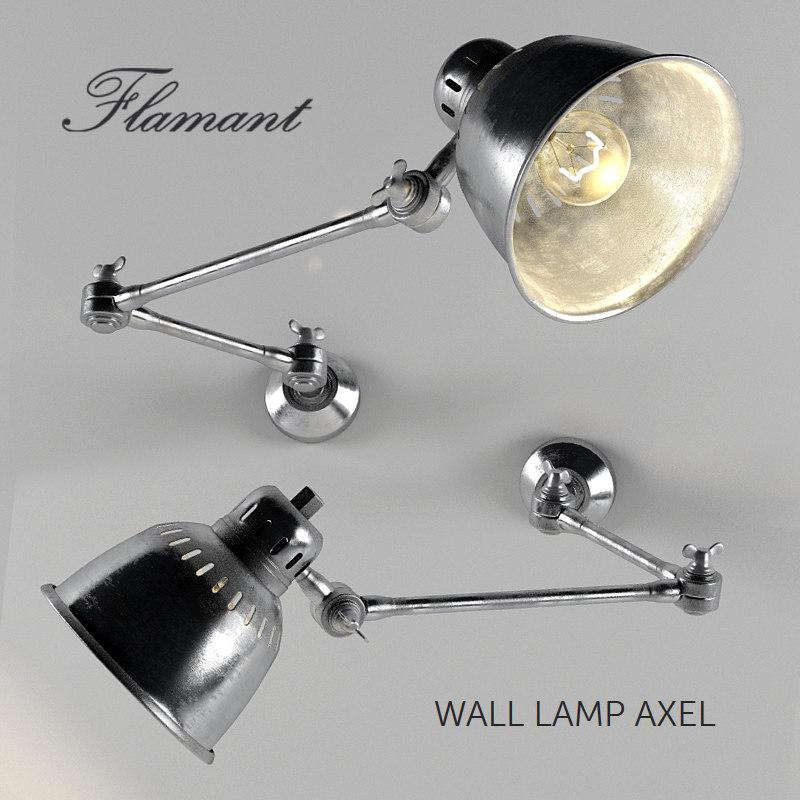 wall lamp axel 3d max