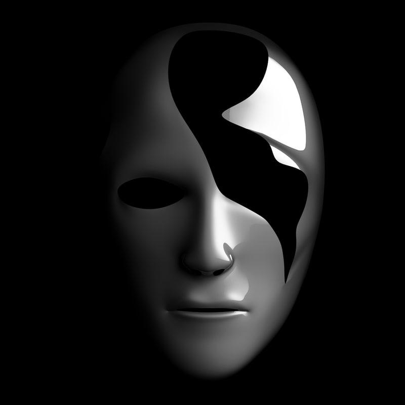 mask reveal 3d model