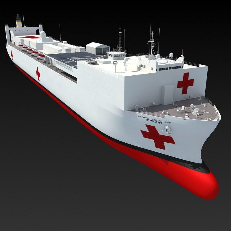 3d model usns comfort t-ah-20 hospital