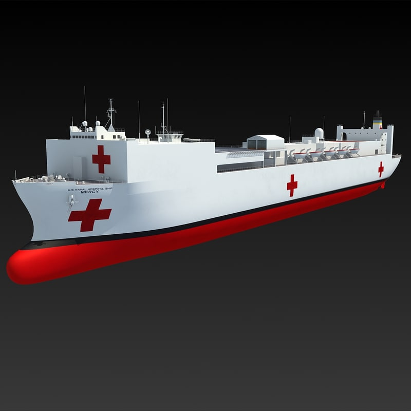 usns mercy t-ah-19 ship 3d 3ds