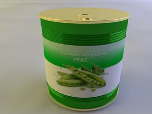 cannedfood 3d model