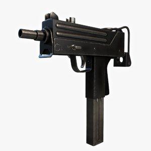 free ingram machine pistol 3d model