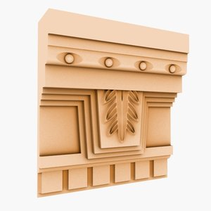 3d interior cornice molding model