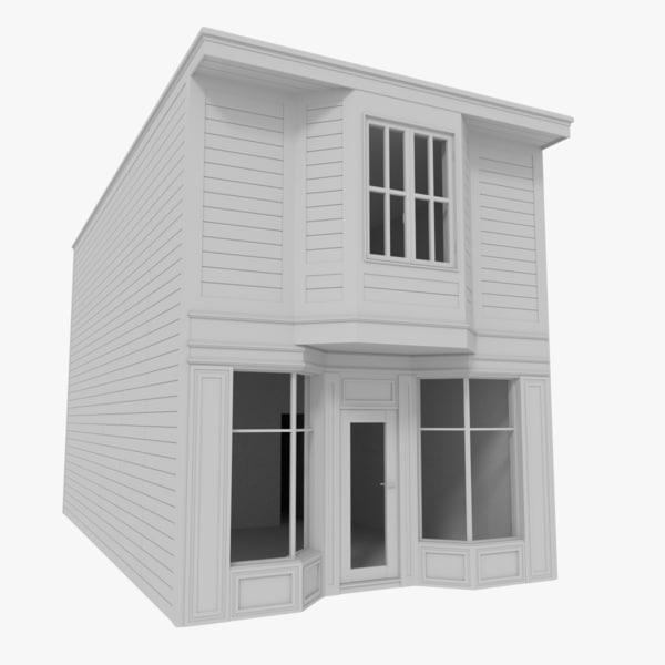 american building interior 3d model