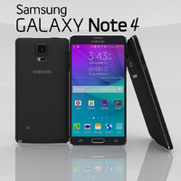 samsung note 4 charcoal 3d model