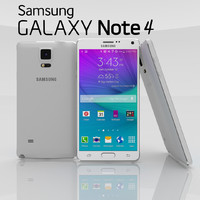 samsung note 4 frost 3d model