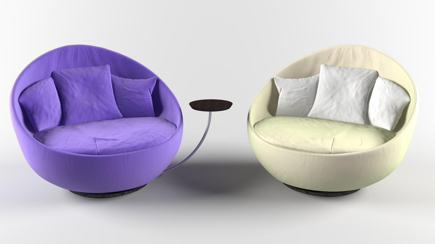 3d lacoon chair model