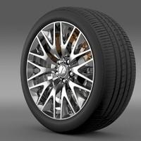 3d model mitsubishi dignity wheel