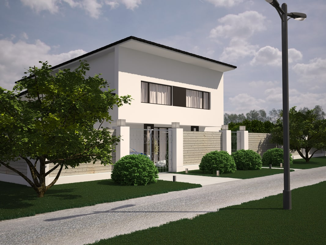3ds max house exterior