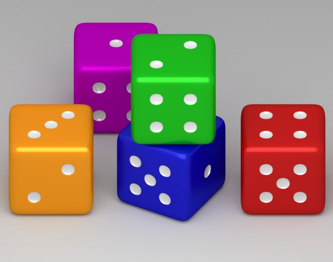 dxf colorful dice