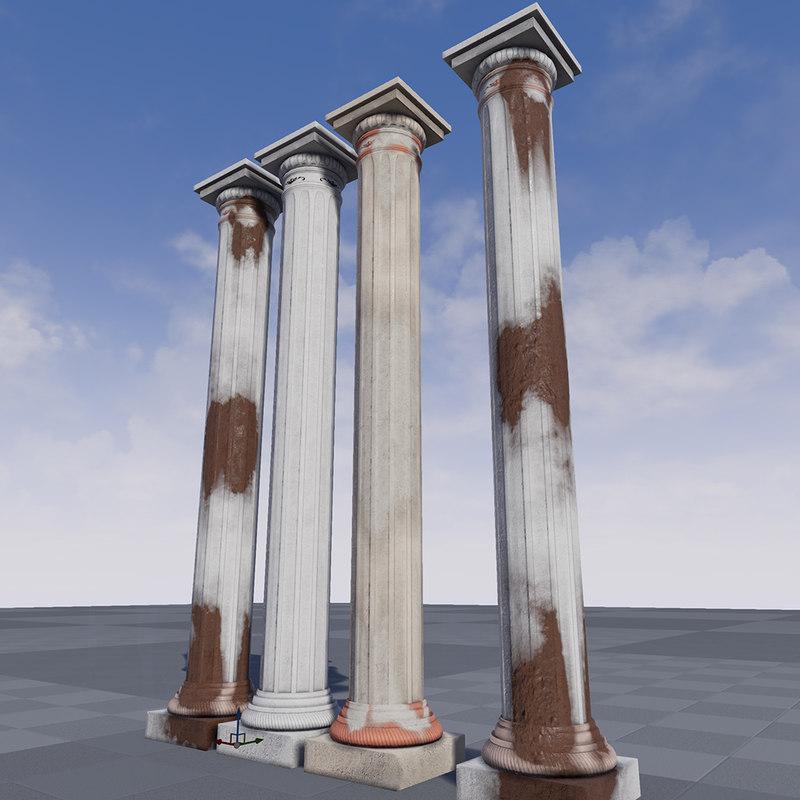 greek pillar 3ds