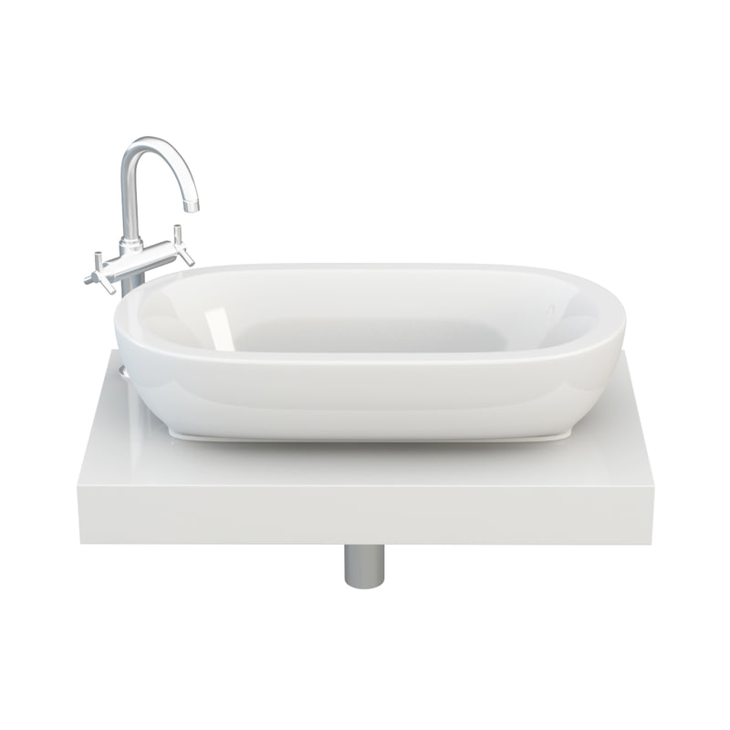 3d washbasin basin wash model