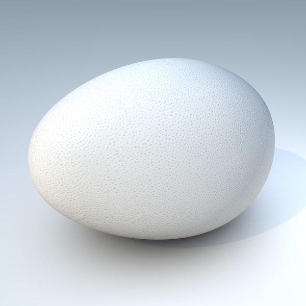 3d realistic white egg model