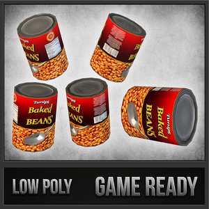 3d canned beans model
