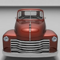 1951 chevrolet pickup car 3d 3ds