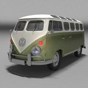 1962 volkswagen kombi 3ds